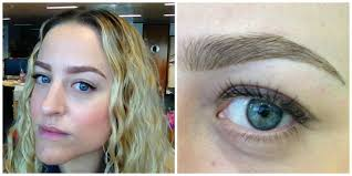 what it s really like to have your eyebrows tattooed on