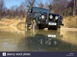 Defender Flood Lights Landrover Defender Off Road Stock Photos Landrover