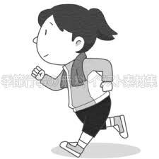 ジョギングをする女性のイラスト 季節行事の無料イラスト素材集