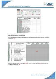 Practica Excel Registro De Asistencia Y Notas