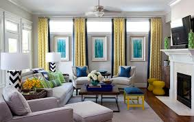 ... Add a dash of green along with yellow and blue [Design: Jennifer  Reynolds Interiors