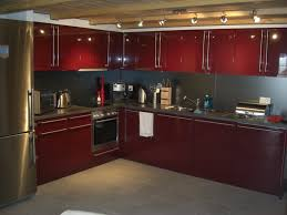 Black Walnut Kitchen Cabinets Red Cabinets Kitchen Traditional Kitchen With Dark Red Cabinets