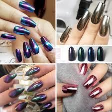 Chrome Glitter Prášek Na Nehty 1gbox Výběr Z 11 Odstínů Dokonalá