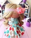 Интерьерные текстильные куклы своими руками 179