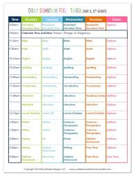 Daily Routine Chart For 10 Year Old 2015 6th Grade Homeschool Schedule Confessions Of A