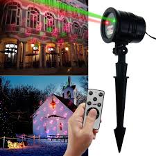 Laser Flood Light Rf Remote Christmas Flood Light Waterproof Laser Projector Lighting Red And Green Laser Light Us Eu Plug Type In Floodlights From Lights Lighting On