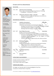 Resume Form Examples Of Resumes Best Cv Format Resume 100 Free Model How To 99