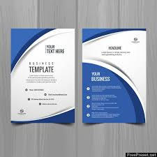 Ebrochure Template Blue And White Wavy Brochure Template 845219