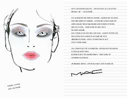 Face Charts To Print A Blogger That Falls In Love With Makeup Mac Face Charts Pt Vii