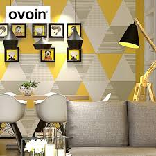 office wall papers. Scandinavian Style Living Room Office Wall Paper Roll Colorful Triangle Graphic Modern Geometric Wallpaper Papers