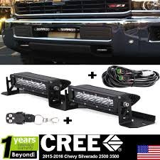 Light Bar For 2016 Chevy Silverado Details About Dot Led Light Bar Bumper Driving Lamp For 2015 2017 Chevy Silverado 2500 3500 Hd