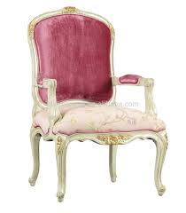 Living room antique armchair, Pink wooden chair, Royal Luxury armchair
