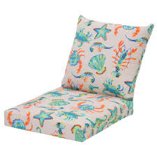 plantation patterns llc oatmeal sea 2 piece deep seating outdoor lounge chair cushion