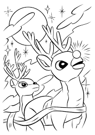 Small Picture Best Rudolph The Red Nosed Reindeer Coloring Pages Photos