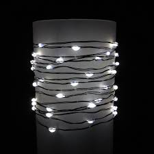 everlasting glow wire string lights warm white led battery green wire commercial