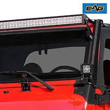 amazon com eag e autogrilles 97 06 jeep wrangler tj steel upper amazon com eag e autogrilles 97 06 jeep wrangler tj steel upper windshield mounting brackets for 52 led light bar automotive