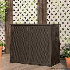 suncast elements outdoor inch wide cabi wicker outdoor furniture storage box outdoor wicker storage bench with