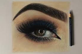 smokey eye makeup for blue eyes perfect eyes makeup drawing at getdrawings