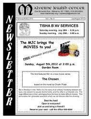 May-June 2013.pmd - Malverne Jewish Center