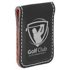 personalized leatherette money clip black laser engraved with silver personalized gifts corporate gifts groomsmens gifts custom gifts