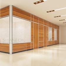 china decorative office half glass wall