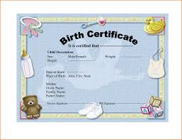 Birth Certificate Template Novelty Birth Certificate Template Professional And High Quality 22