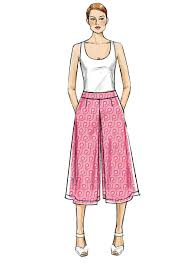 Culottes Pattern Impressive V48 Misses' Culottes Shorts And Pants Sewing Pattern Vogue