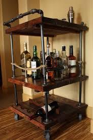Best 25+ Industrial bar cart ideas on Pinterest | Bar cart wood, Bar carts  and Diy bar cart