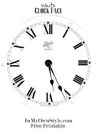 Printable Clock Dufresneassociates Com