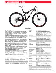 Stumpjumper Size Chart 2013 Specialized Bikes Catalogue