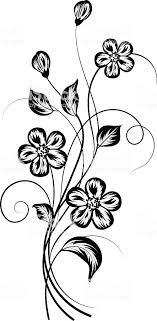 シンプルな花の背景白黒の お祝いのベクターアート素材や画像を多数ご