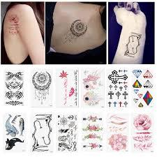 водонепроницаемый временные рука татуировки боди арт цветок крест
