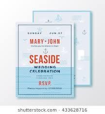 wedding invitation ticket template sea side wedding invitation card ticket stock vector royalty free