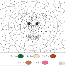So be a smart parent and show how interesting can be moments spent with a sheet of paper and crayons in your hands. Color By Number Coloring Pages Printable Coloring Home