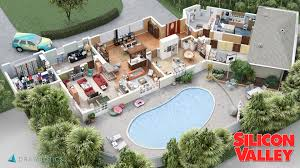 Floor Plans Of Famous TV Homes By Brandi Roberts And Inaki Aliste Tv House Floor Plans
