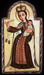 Image result for our lady of mount carmel with st. simon stock
