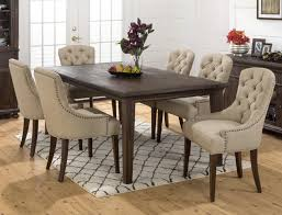 nailhead dining chair with table med art posters how make tufted chairs trim blue room furniture