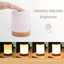 Kmashi Led Nachtkastje Lampen Touch Lamp Oplaadbare Warm Wit Licht