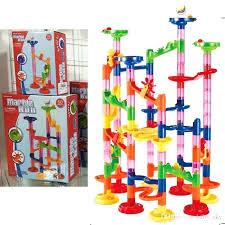 track marble run blocks set building race marbles construction toys fun kit for kids children new