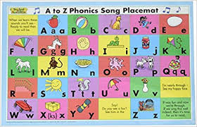 Amazon Com A To Z Phonics Song Placemat Second Edition Sing