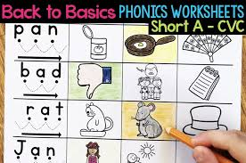 1st grade level 1 phonics worksheets. Short A Phonics Worksheets Short A Cvc Words