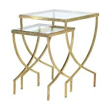 gold side tables gold glass nest of side tables 2