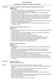 Medical Writing Resume Samples Velvet Jobs