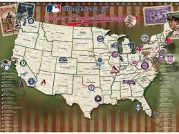 Map Your Travels Mlb Stadiums Baseball Posters Baseball