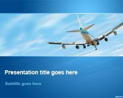 Free Airplane Flying Away In Sky Powerpoint Template