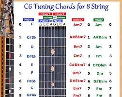 Amazon Com C6 Tuning 8 String Lap Steel Dobro Guitar Chords