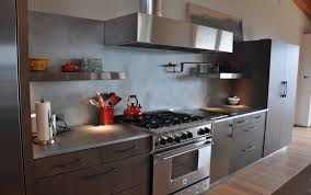 zinc countertops in a transitional kitchen