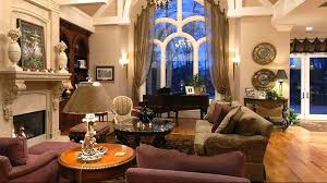 ... Living Room, Luxury Living Rooms With Curtain And Sofa And Fireplace  And Sofa And Cushion ...