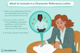Letter Of Recommendation For Laid Off Employee Character Reference Letter Example And Writing Tips