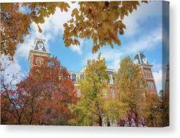 University of Arkansas Razorback Campus during Autumn Canvas Print / Canvas  Art by Gregory Ballos